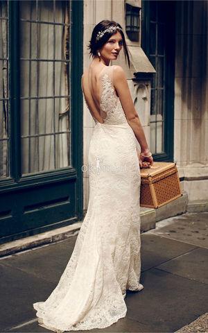 9cf0-6voc-Abiti-da-Sposa-Elegante-Fancy-sensuale-in-Raso-Vintage
