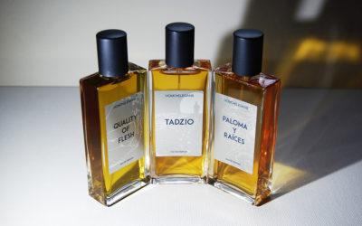 Profumi Homoelegans: Tadzio, Quality of Flesh, Paloma y Raices
